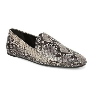 Vince 'Paz' Snakeskin Embossed Leather Loafers
